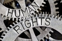 Cogs with 'Human rights' written on it
