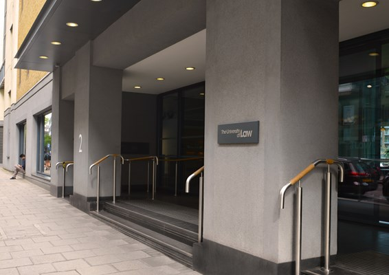Entrance to London Moorgate campus