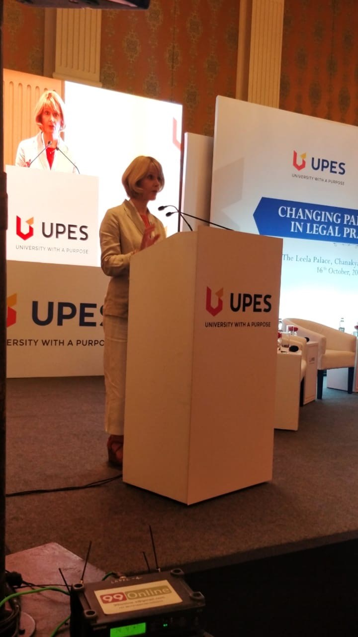 Professor Andrea Nollent, Vice-Chancellor & CEO, speaking at UPES Conference